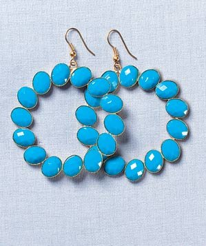 Isabel Harvey turquoise-colored earrings