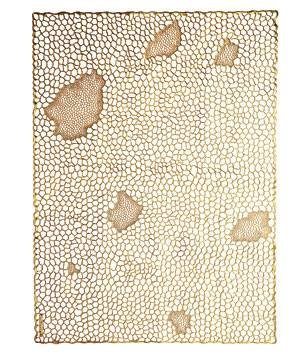 Gold Coral vinyl place mats by Chilewich