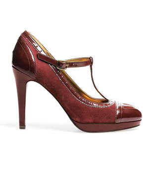 Merona Faux suede and patent leather heels