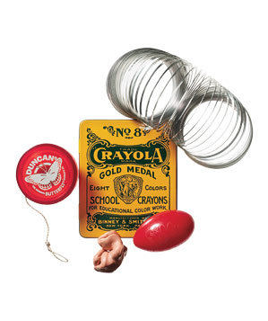 Hall-of-Fame Toy Pack with cards, silly puddy, yoyo and slinky