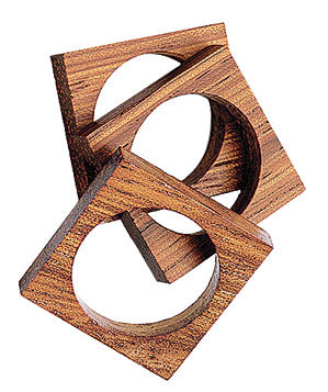 By Boe Square Wood Ring Set