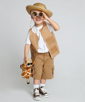 Safari costume kid