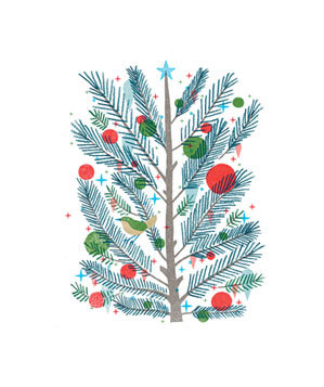 Christmas tree illo