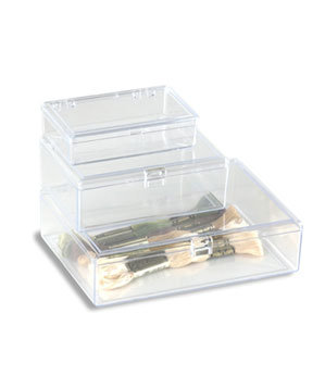 clear square hinged boxes - Wreath Storage Box