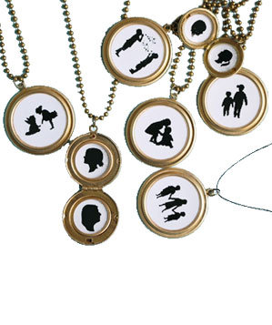 Silhouette Locket Necklace