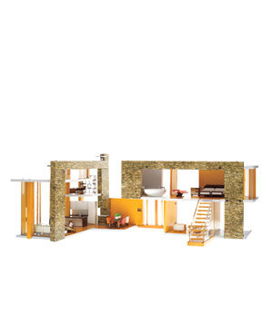 Modernist dollhouse