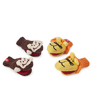 Monkey and Lion Mittens