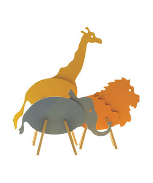 Flat safari animals