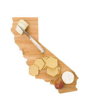 State-shaped cutting board