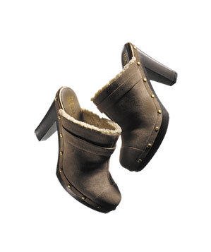 a.n.a by JCPenney faux-shearling clogs