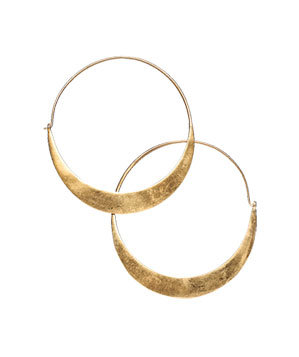 Julie Collection gold-plated earrings