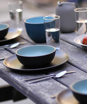 Coupe Line dinnerware from Heath Ceramics