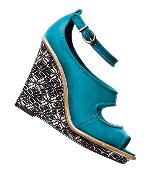 Lela Rose for Payless fabric wedges