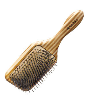 Earth Therapeutics bamboo natural-bristle paddle brush