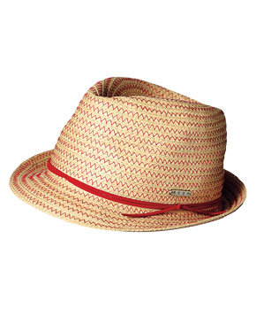 Roxy paper-straw hat