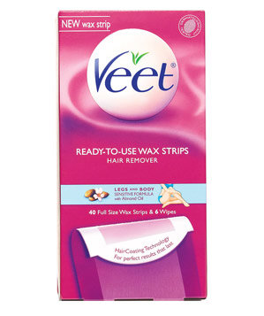 Veet Ready-to-Use Wax Strips for Legs and Body