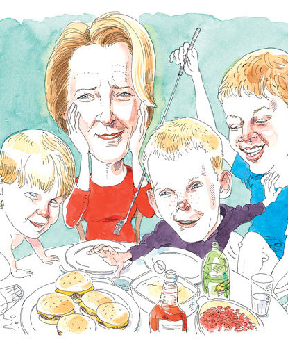 illustration-mother-dinner-sons