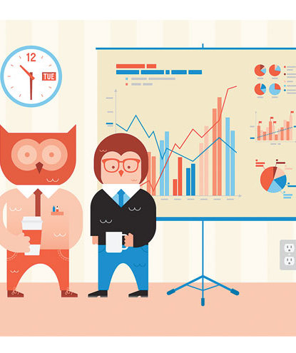 illustration-owls-presentation-chart