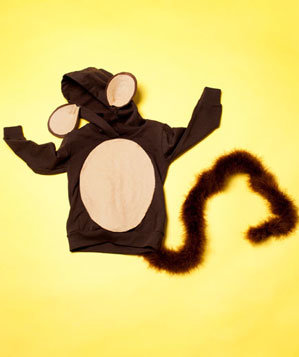 Homemade monkey costume
