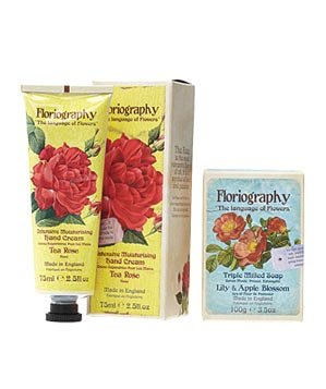 Floriography hand cream and soap
