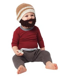 Kids' Acrylic Bearded Beanie