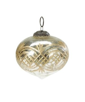 Etched Mercury Glass Ornaments