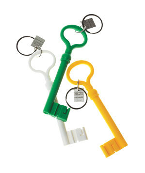 Key-shaped Silicone Key Chains