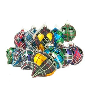 Jeffrey Banks Tartan Plaid Ornaments