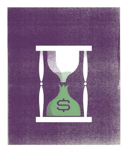 hourglass-money-bag