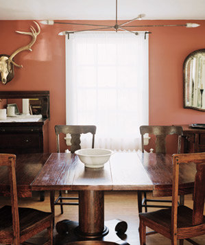 Dining room with wooden table