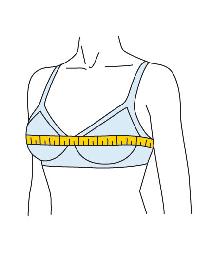 Step 2: Take Your Bust Measurement | How to Measure Your Bra Size ...