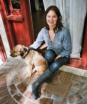 Kim Sava with dog Penny