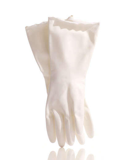 how to clean white marching gloves