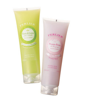 Perlier Shower Cream in French Lime Blossom and Pink Peony