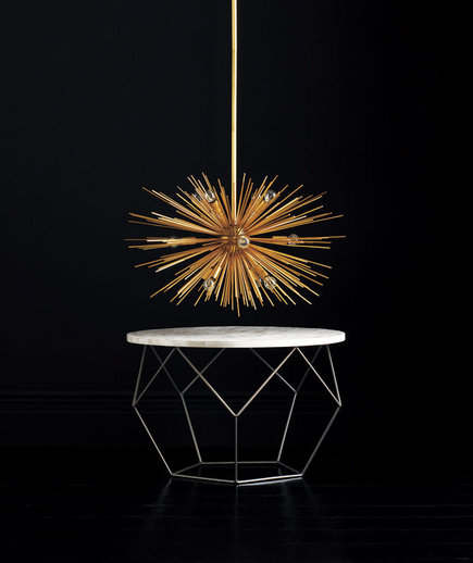 Zanadoo Chandelier And Origami Coffee Table