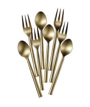 Target Brass-Plated Stainless-Steel Forks and Spoons
