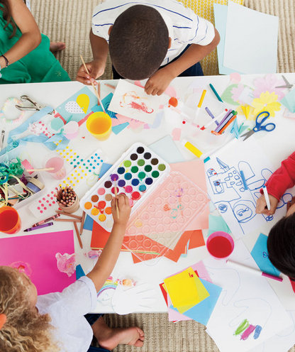 children-drawing-making-cards