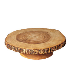 Cost Plus World Market Wood Bark Pedestal Stand