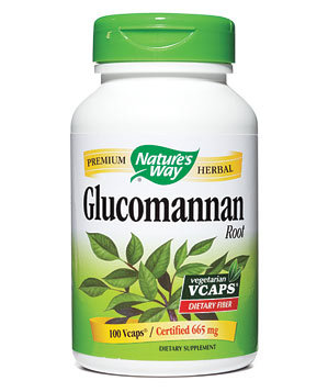 Bottle of Glucomannan pills