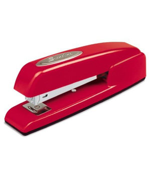 Swingline 747 business stapler in Rio Red
