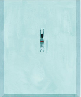 Illustration: woman diving into pool