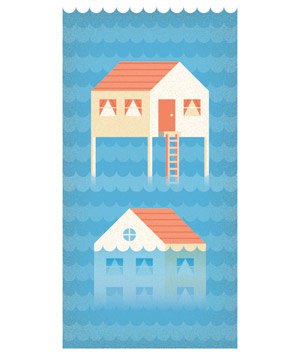 Illustration: flooded house