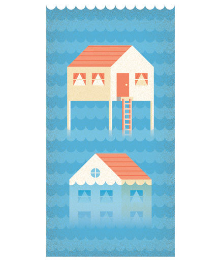 illustration-flooded-house