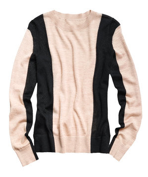 Loft Crewneck Color-Block Sweater