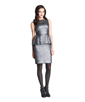 Kate Spade New York lamé dress
