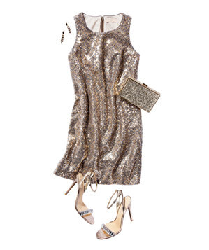 Banana Republic sequined shift dress
