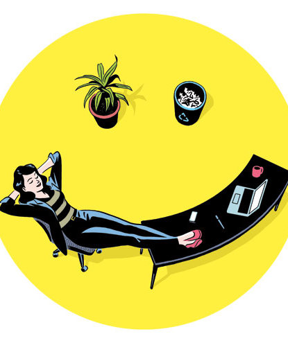woman-work-desk-relaxed-illo
