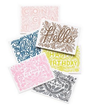 Assorted Letterpress Set