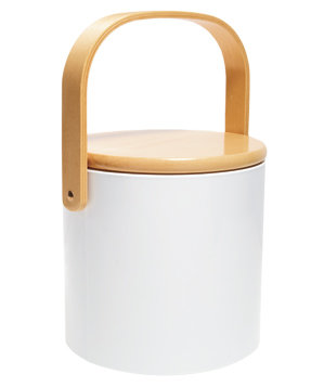 Beachwood Ice Bucket in White