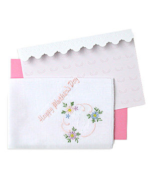 Spoon sisters embroidered cotton hankie